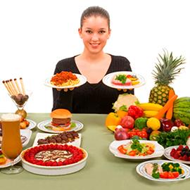 Hábitos alimentares distintos