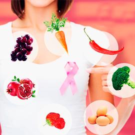 alimentos que combatem o câncer de mama